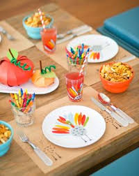 my thanksgiving table setting from food network magazine photo