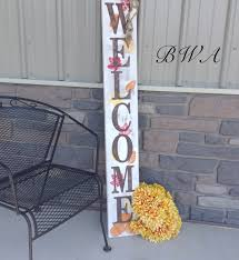 primitive fall decor welcome porch sign fall porch sign