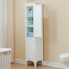 white linen cabinet with doors essential home furnishings bayfield white 2 door linen tower free
