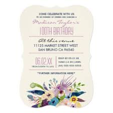 100 years old invitations u0026 announcements zazzle
