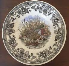 churchill vintage pheasant dinner plates phasiana by