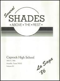 caprock high school yearbook explore 1986 caprock high school yearbook amarillo tx classmates