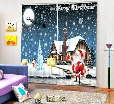 Santa Curtains Christmas Curtains For Living Room U2013 Teawing Co