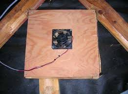 installing a gable vent fan solar attic fan