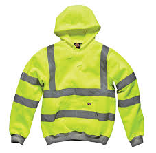 Construction High Visibility Clothing Forever Mens Dickies Hi Viz Hoodie Hooded Sweatshirt High