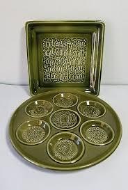 pesach plate judaica pesach seder passover plate vintage naaman porcelan large