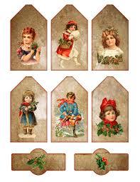 vintage printable christmas tags and labels graffical