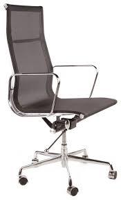 Black Mesh Office Chair Aluminum High Back Mesh Management Office Chair Modern Office