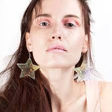 grunge earrings utile holographic earrings laser cut acrylic dangle