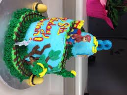 curious george cake topper brian s 8th birthday of bri
