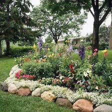 Rock Garden Beds Best 25 Rock Border Ideas On Pinterest Borders For Flower Beds