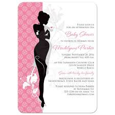 baby shower tea invitation pink black gray white