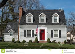 Blue House With Red Door Red Brick House Blue Shutters Stock Photos Images U0026 Pictures