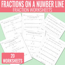 fractions on a number line worksheets math worksheets easy