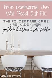 dining room wall decals free dining room wall decal cut file for silhouette or cricut