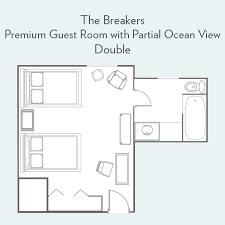 the breakers floor plan premium guest room with partial ocean view guest rooms the breakers