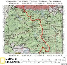 nantahala river map at in nc bly gap to fontana dam