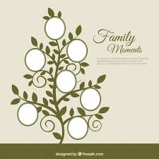 family tree in abstract style vector free