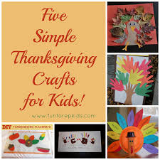 five simple thanksgiving crafts for kids