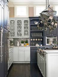 lovely mixing dark and light kitchen cabinets with polished nickel