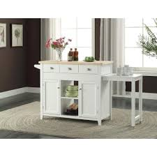 linon home decor sheridan white kitchen cart with towel bar