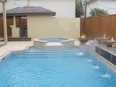 Richards Backyard Solutions by A Raised Spa Is Further Enhanced With Natural Stone Boulders Fire