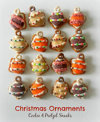 sugar swings serve some ornament cookie and pretzel snacks