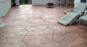 Dyed Concrete Patio by Poured Concrète Etched With Pattern And Dyed Colors Is Cheap My