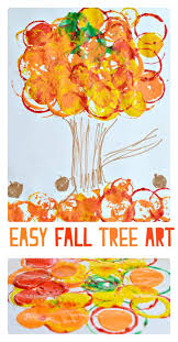 Simple Fall Crafts For Kids - simple fall tree art projects even toddlers can make halloween