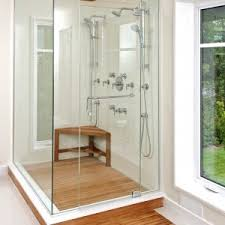 Shower Designs With Bench Bathroom Design Great Teak Shower Mat For Cozy Shower Floor