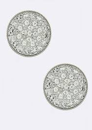 large stud earrings large pave stud earrings silver 123stitch