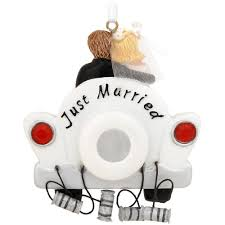 just married wedding car ornament home kitchen