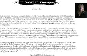 Resume Biography Sample by 6 Artist Biography Example Intern Resume