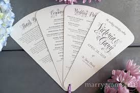 wedding ceremony program paper 4 blade petal program fan style wedding ceremony programs