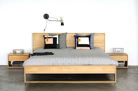 nordic bedroom furniture oak bed and cube table nordic pine