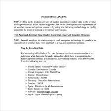 sample procedure manual 7 examples u0026 formatsample quality