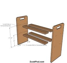 Woodworking Shelf Plans Free by Simple Shoe Rack Plans Plans Diy Free Download Rocking Chair