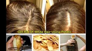 Color For Gray Hair Enhancing Grey Hair Get Rid Of White Hair Using Potato Skins Youtube