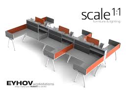 Office Workstation Desk by Office Workstations Scale 1 1