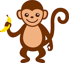 cartoon monkey clip art cute monkey with banana free clip art