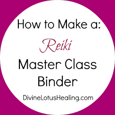 how to make a reiki master class binder
