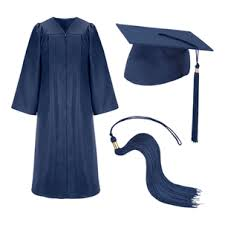 cheap cap and gown blue graduation cap and gown