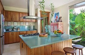 cuisine bois et kitchen furniture with enameled lava couleur lave