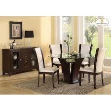round espresso dining table