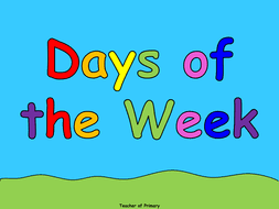 days of the week powerpoint presentation and worksheet by