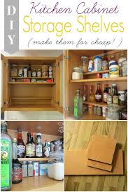 adding half shelves in our kitchen cabinet for cheap two plus cute