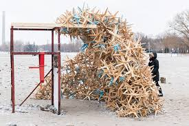 lifeguard posts become playful pavilions for toronto s 2016 winter