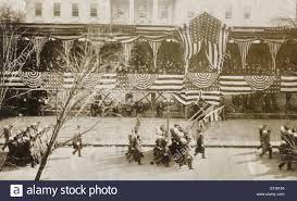 Haus Anzeige Konstituierenden Parade Am Weißen Haus Zeigt Präsident Roosevelt