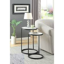 convenience concepts gold coast faux marble end table convenience concepts gold coast faux marble nesting end tables