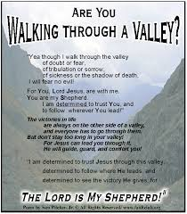 are you walking through a valley faithclub messages